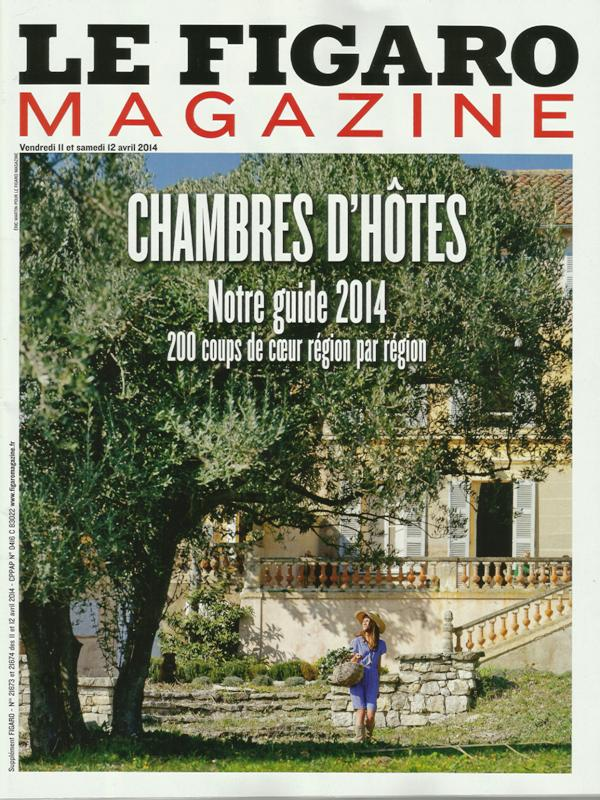 Figaro Magazine chambres d'hôtes 2014